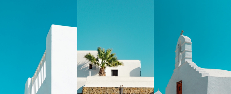 White architecture Landing Page