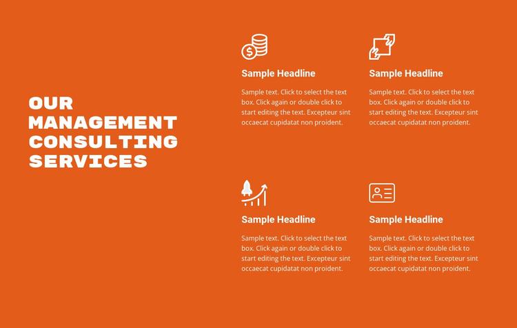 Advisory services Website Template