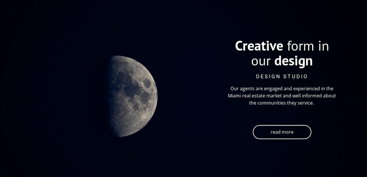 Space theme in projects WordPress Theme
