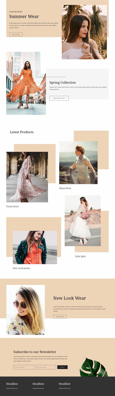 New Look Website Template