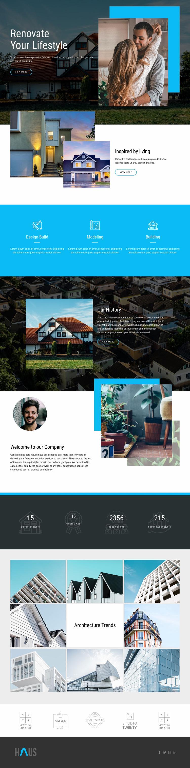Renovate real estate Web Page Design