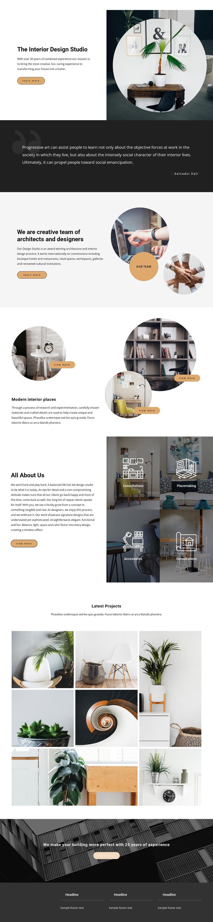 Interior Design Studio HTML5 Template