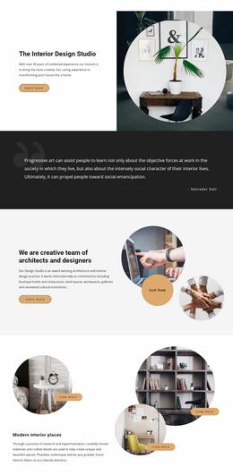Custom Interior Design And Modern Exterior Constuction Website Template