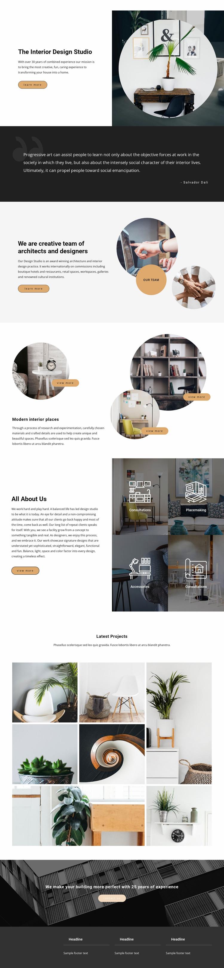 Interior innovations WordPress Website Builder