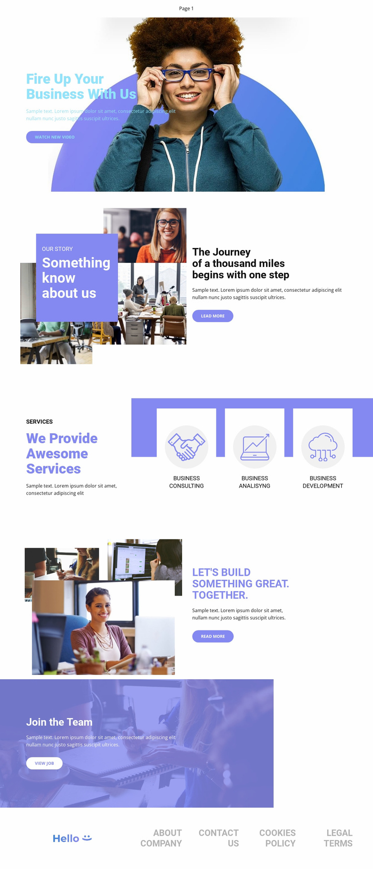 Business Agency Landing Page