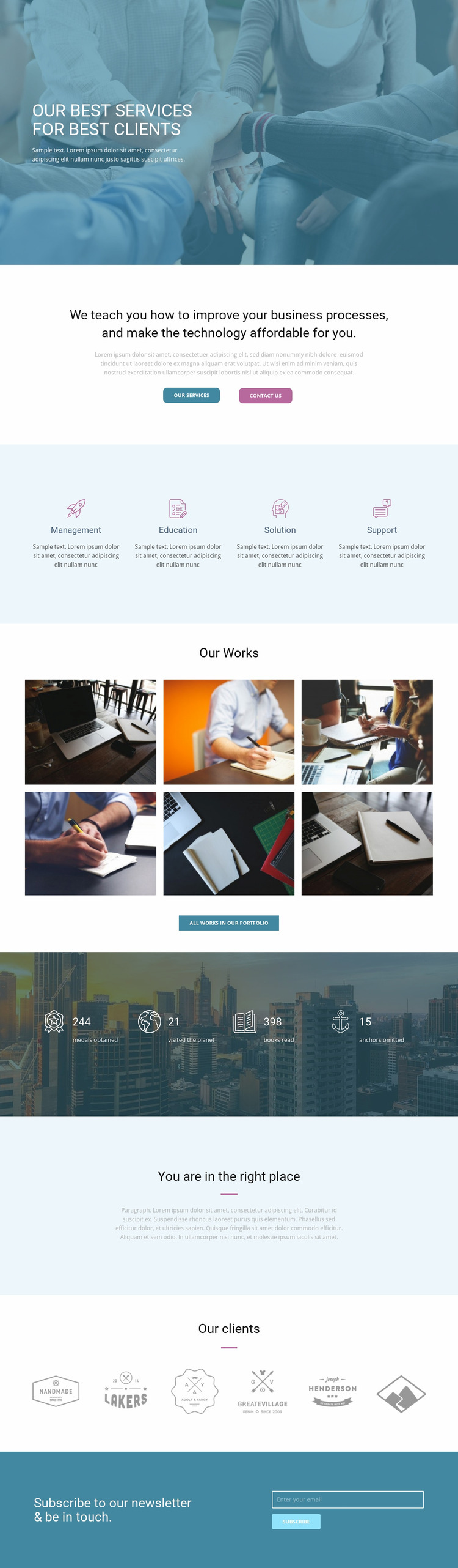 Best services for clients Website Mockup