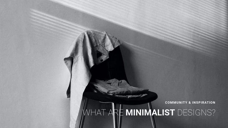 Minimalist apartment interior Html Website Builder