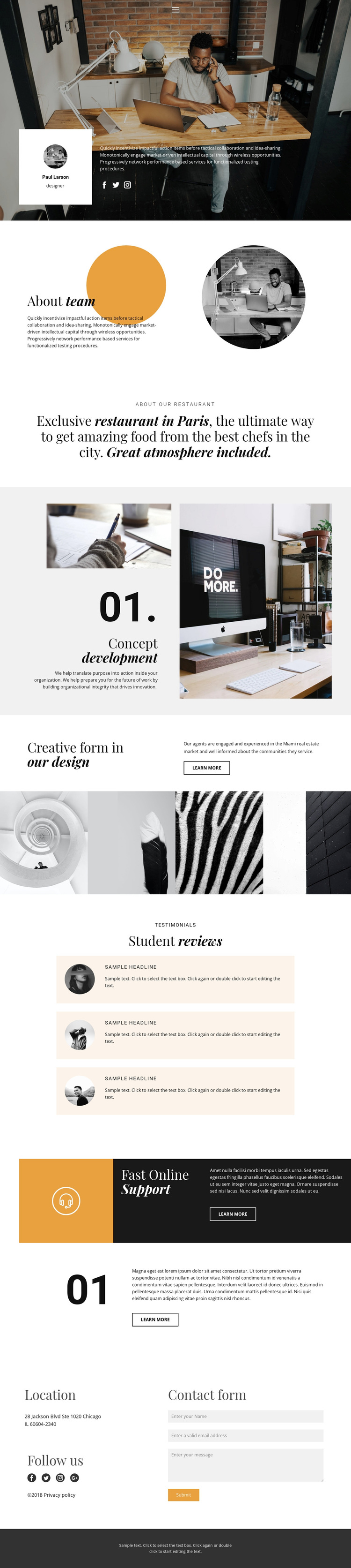 A team of talented developers Template