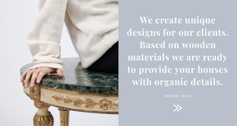 Unique interior design Web Page Designer
