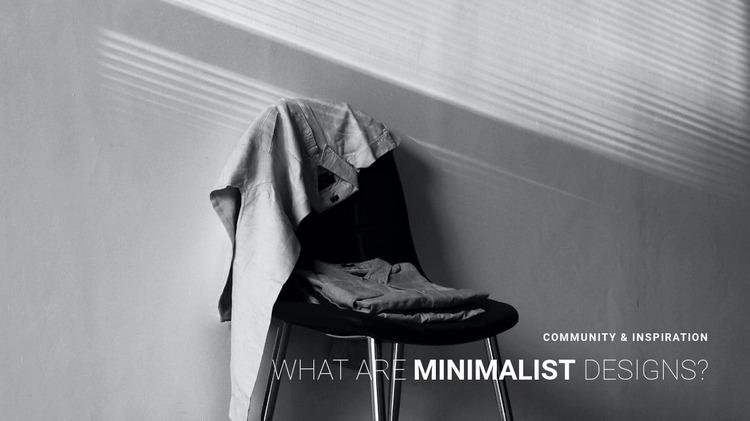 Minimalist apartment interior Website Mockup