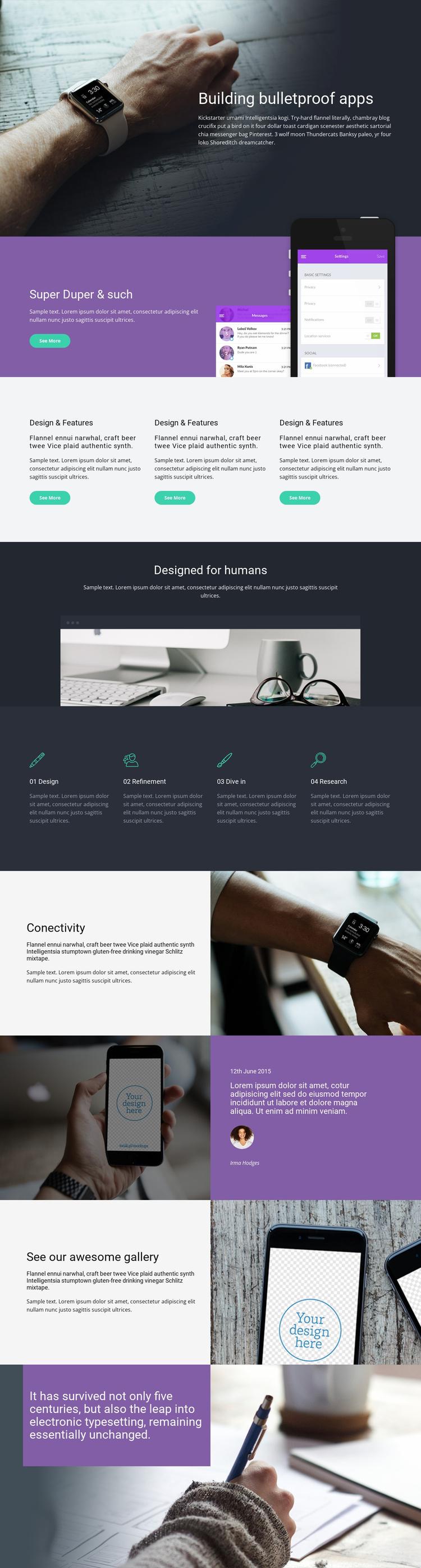Bulletproof Apps Landing Page