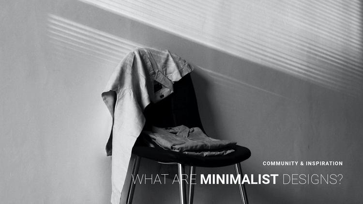 Minimalist apartment interior Website Template