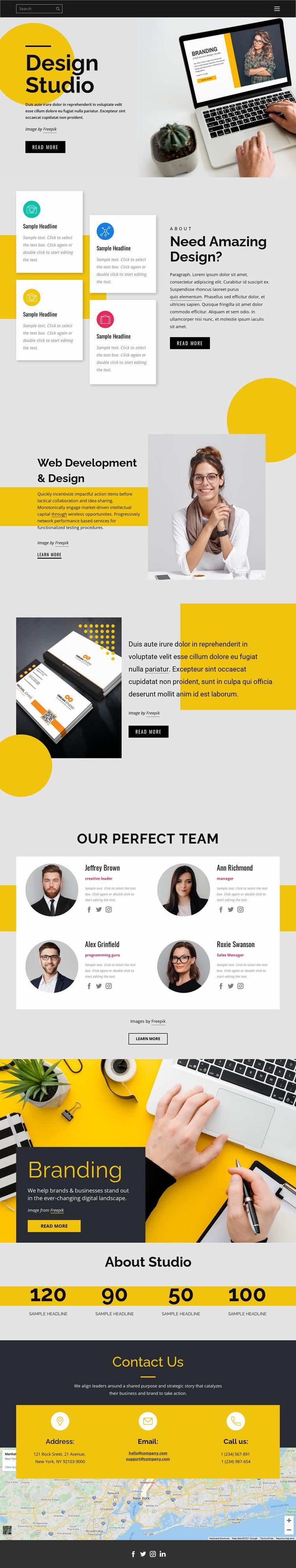 Brand, print & web design Html Website Builder