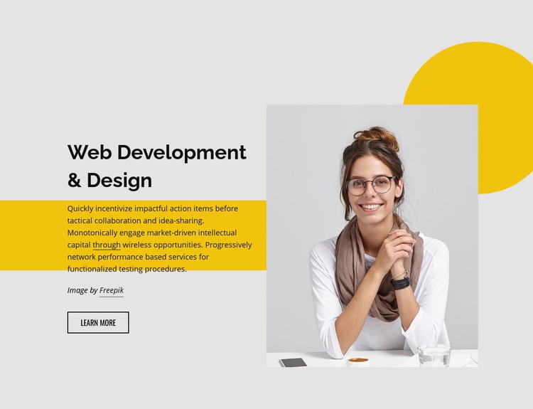 Web development studio Homepage Design