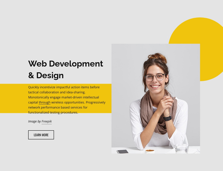 Web development studio Website Template