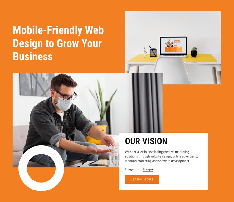 Design with creativity One Page Template