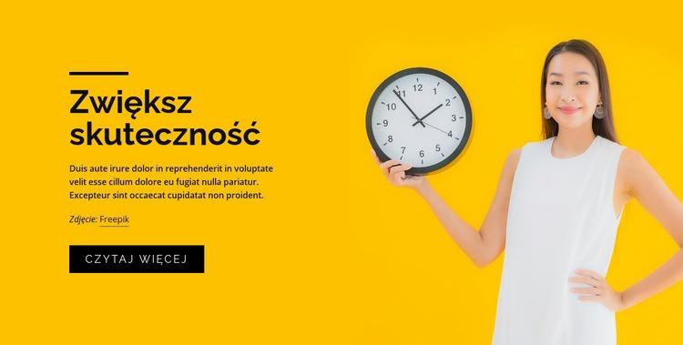 Kursy zarządzania czasem Szablon witryny sieci Web