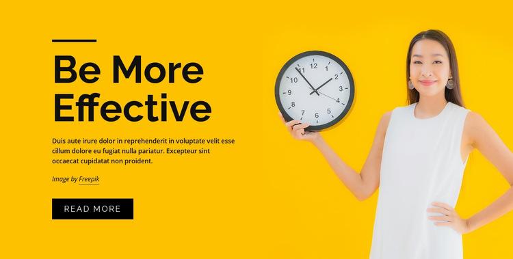 Time management courses Web Page Design