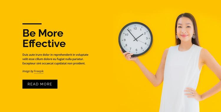 Time management courses Website Mockup