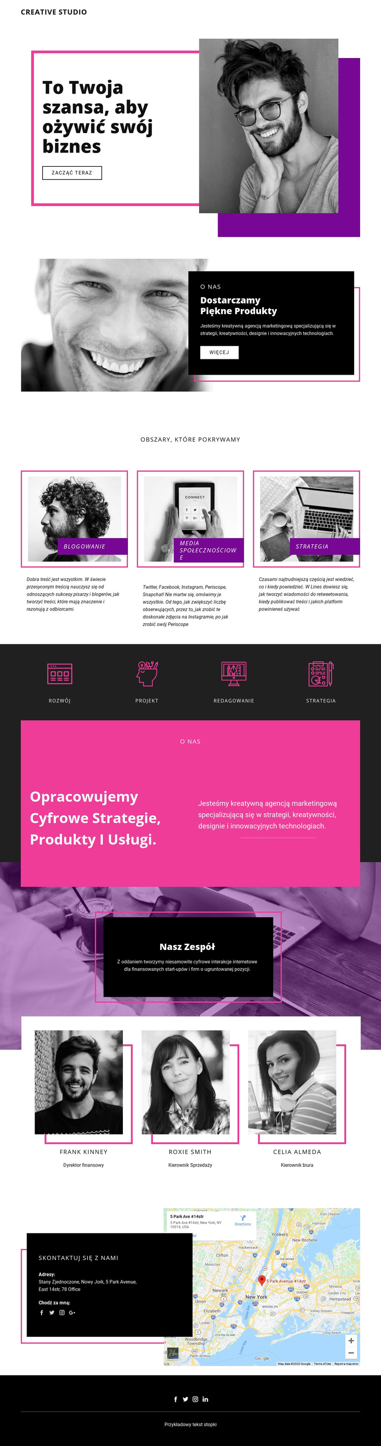 Studio cyfrowe Szablon witryny sieci Web