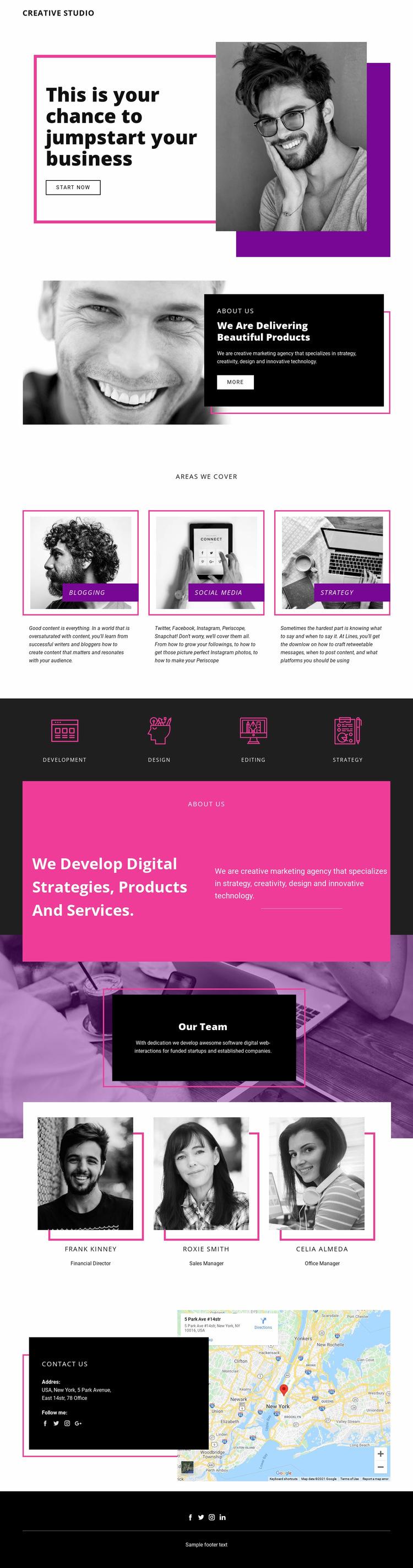 Digital Studio Website Builder Templates