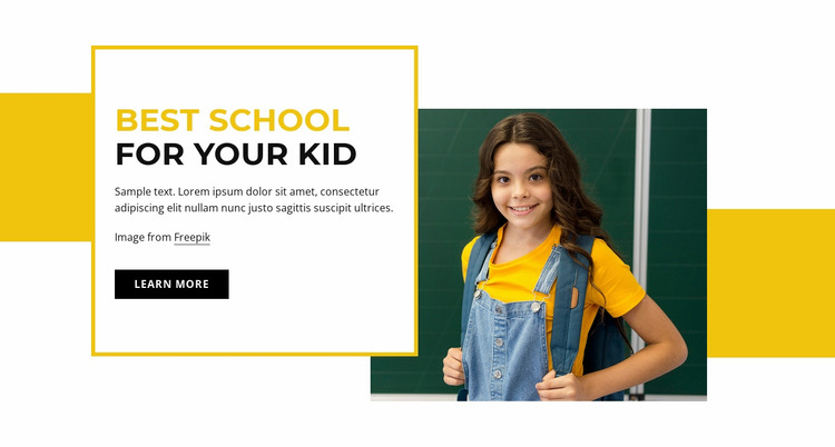 Primary school for kids Website Mockup