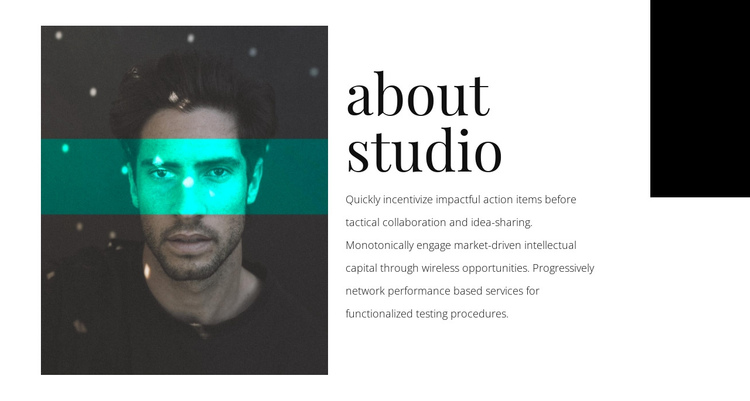 About agency studio One Page Template