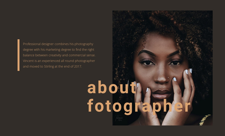 About creative agency Template