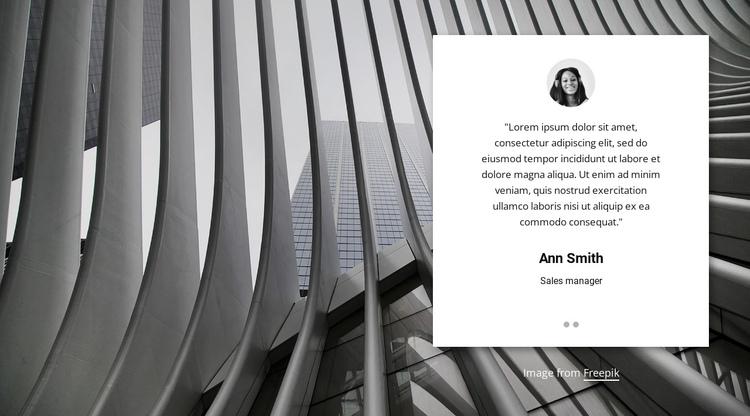 Customer testimonials slider Website Builder Software