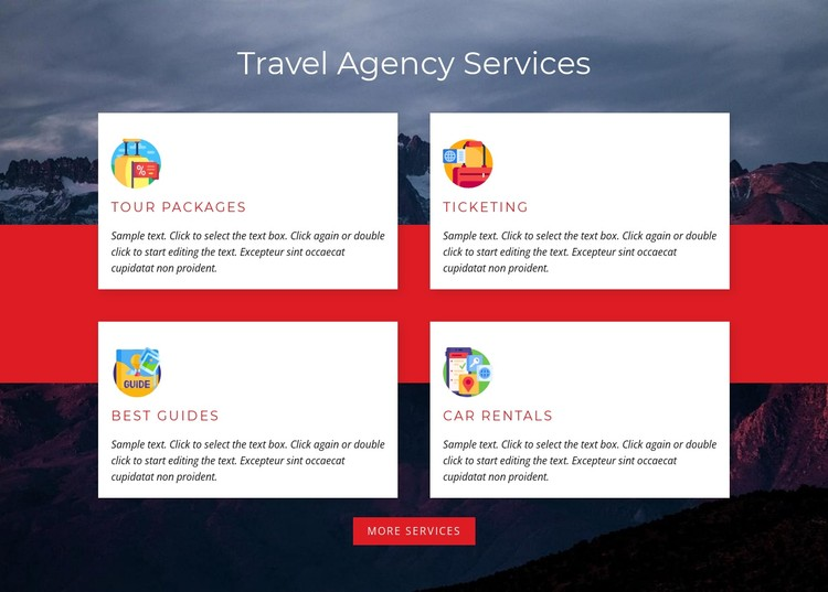 Tour packages CSS Template