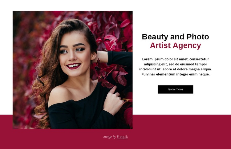 Beauty and fashion agency Html Code Example