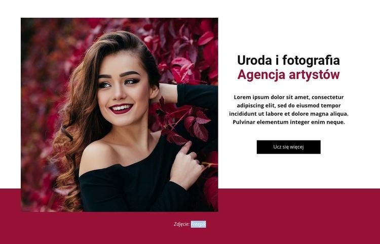 Agencja mody i urody Szablon witryny sieci Web