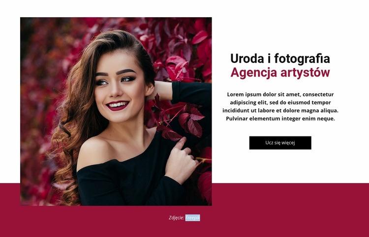Agencja mody i urody Szablon Joomla