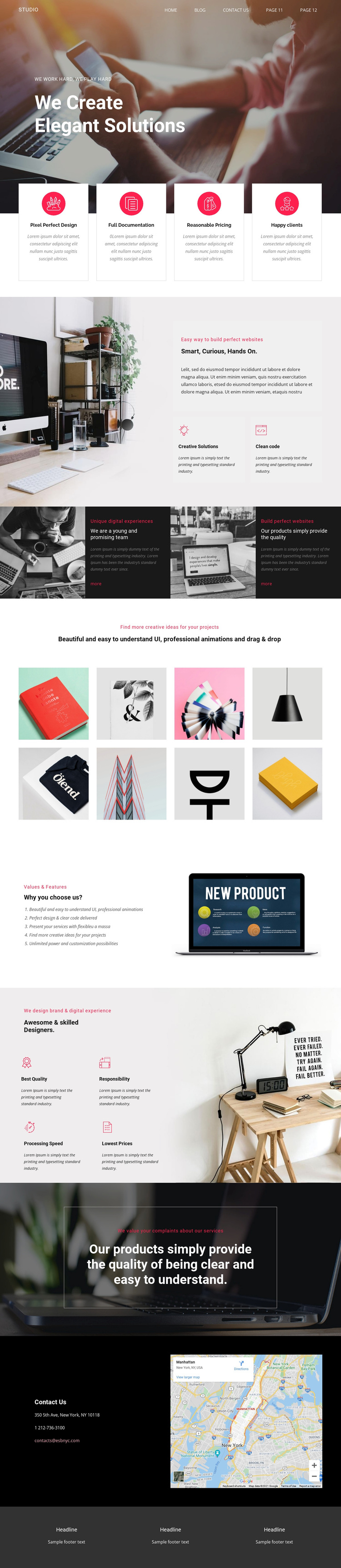Elegant solutions in business  Template