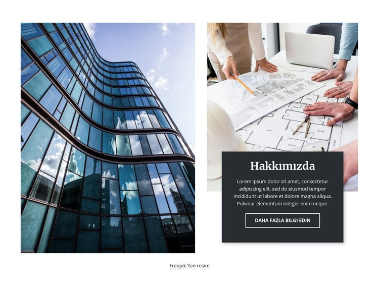 Başarılı inşaat şirketi Web Sitesi Şablonu
