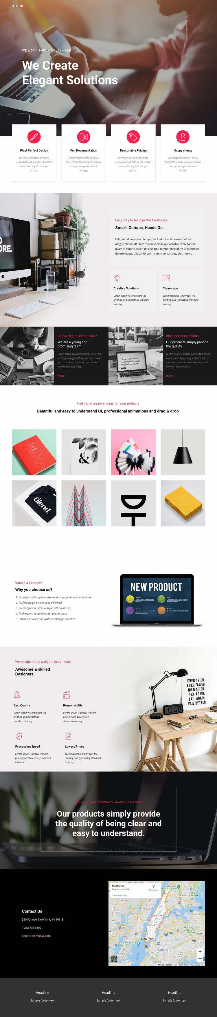 Elegant solutions in business  Web Page Designer