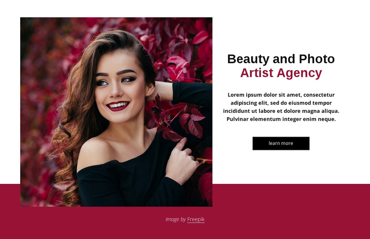 Beauty and fashion agency Website Builder Software