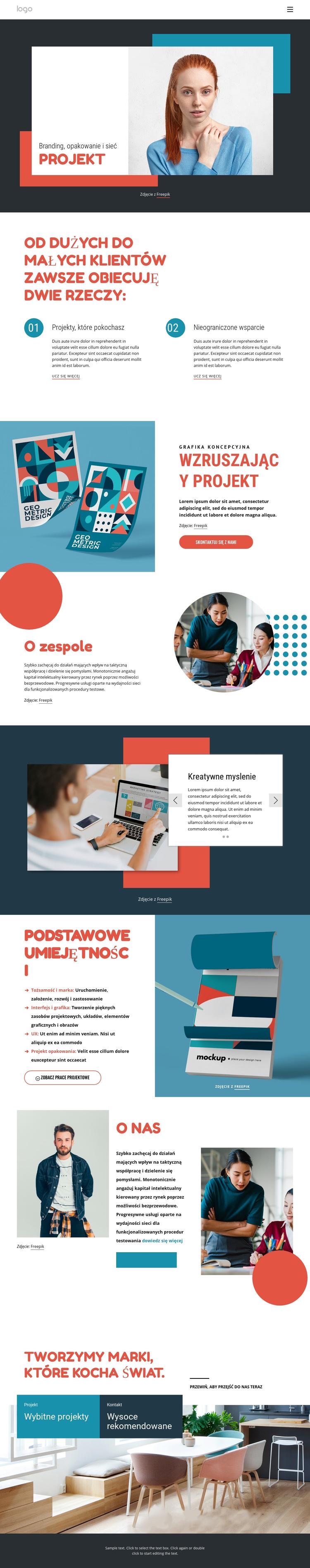 Branding i studio cyfrowe Szablon witryny sieci Web