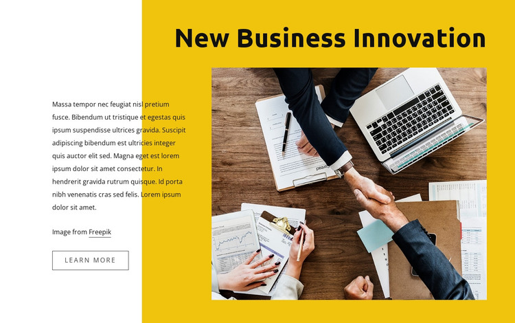Business law innovations HTML Template