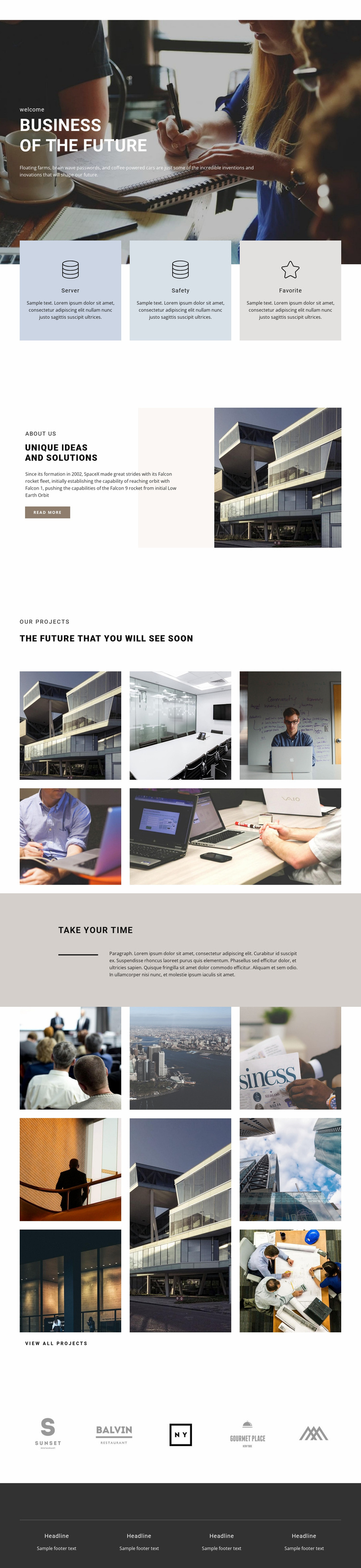 We are young business agency Website Template