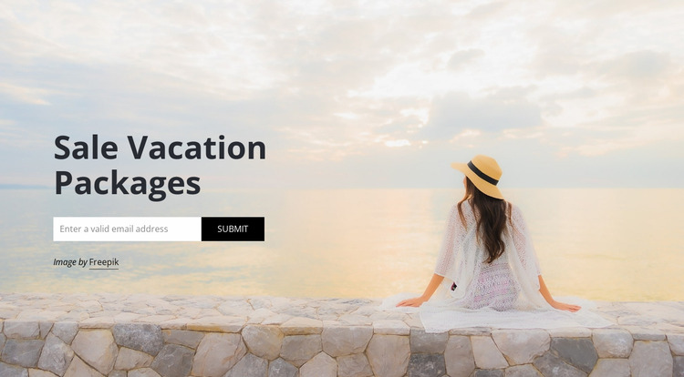 Travel agency subscribe Html Website Builder