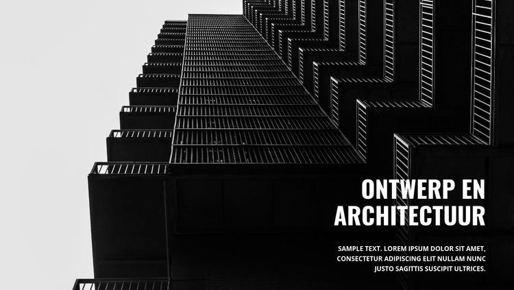 Sterke donkere architectuur Website sjabloon