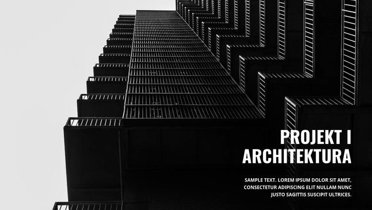 Mocna ciemna architektura Szablon witryny sieci Web