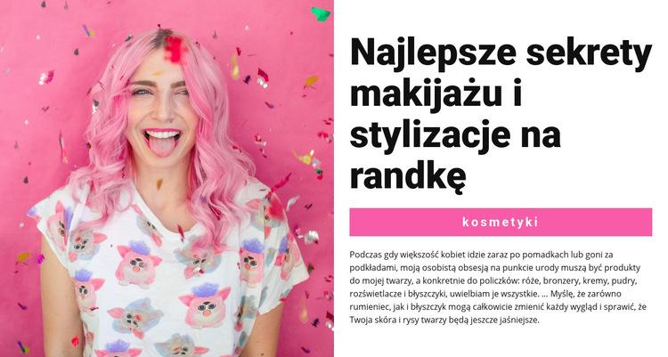 Makijaż imprezowy Szablon witryny sieci Web