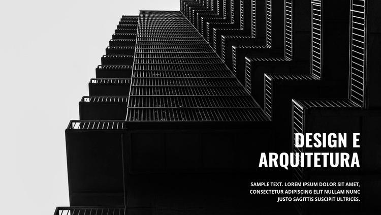 Arquitetura escura forte Modelo de site