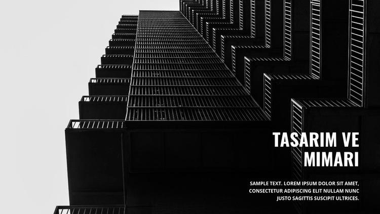 Güçlü karanlık mimari Web Sitesi Şablonu