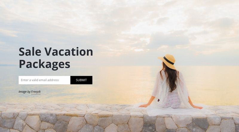 Travel agency subscribe Web Page Design