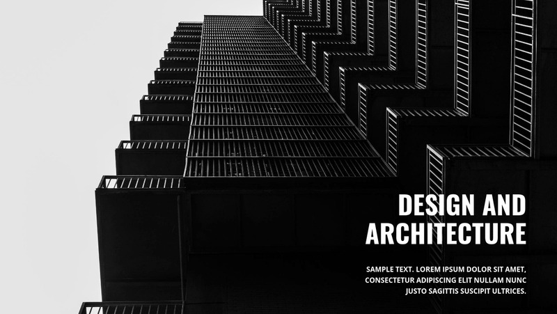 Strong dark architecture Web Page Design