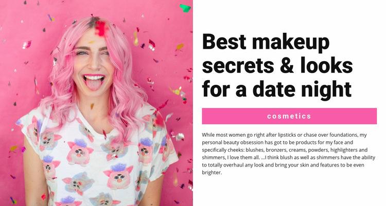 Party makeup Web Page Design