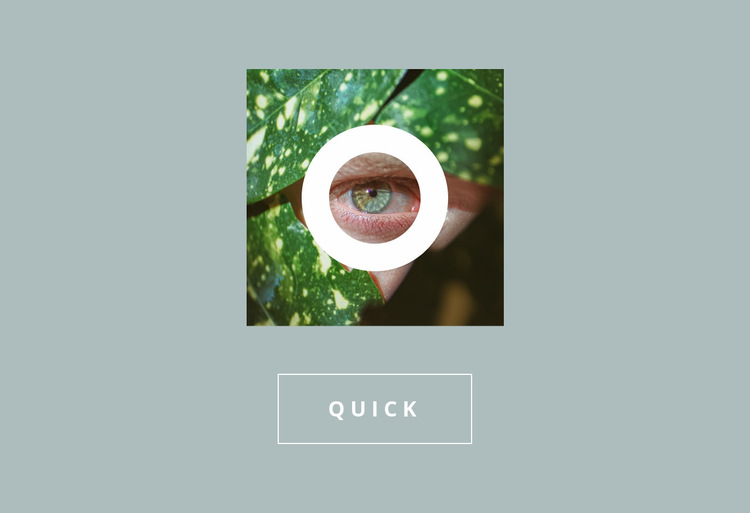 Green image with button Website Builder Templates